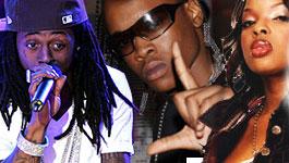 Lil Wayne, Hurricane Chris and Nicole Wray